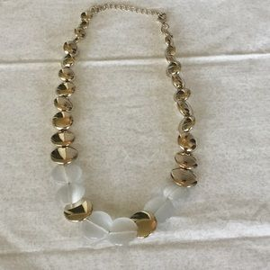 $10 ea or 3/$20. Goldtone and White Adjus Necklace
